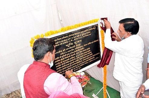 मंत्री देवड़ा ने मंदसौर जिले में 21.96 लाख के पुल की रखी आधारशिला