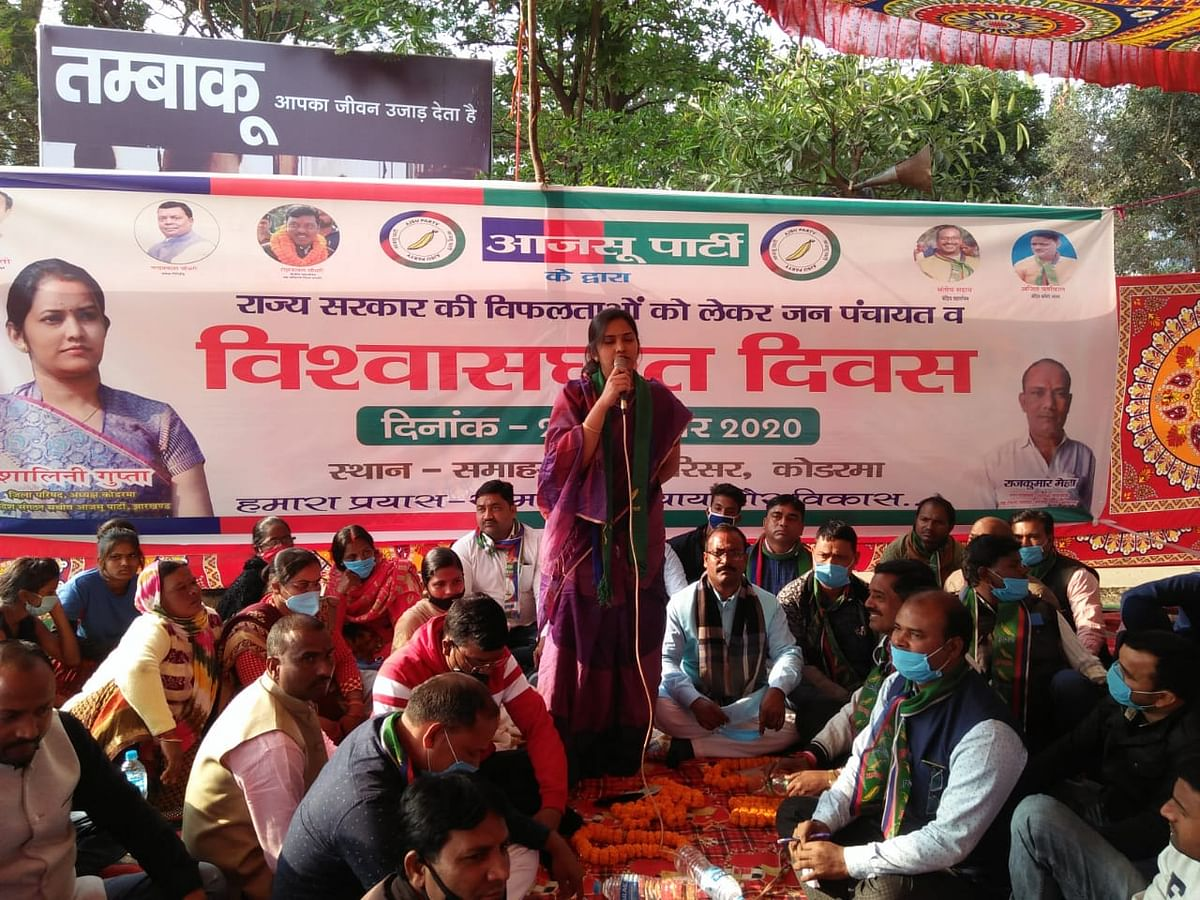 Coalition government is suppressing the voice of the village: Shalini Gupta
