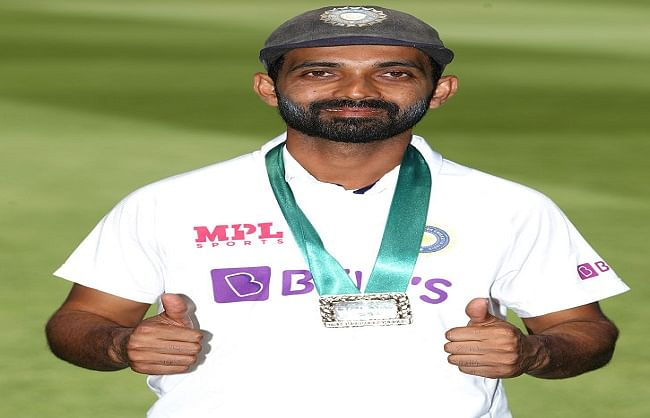 Melbourne Test: Ajinkya Rahane conferred with Mulag Medal