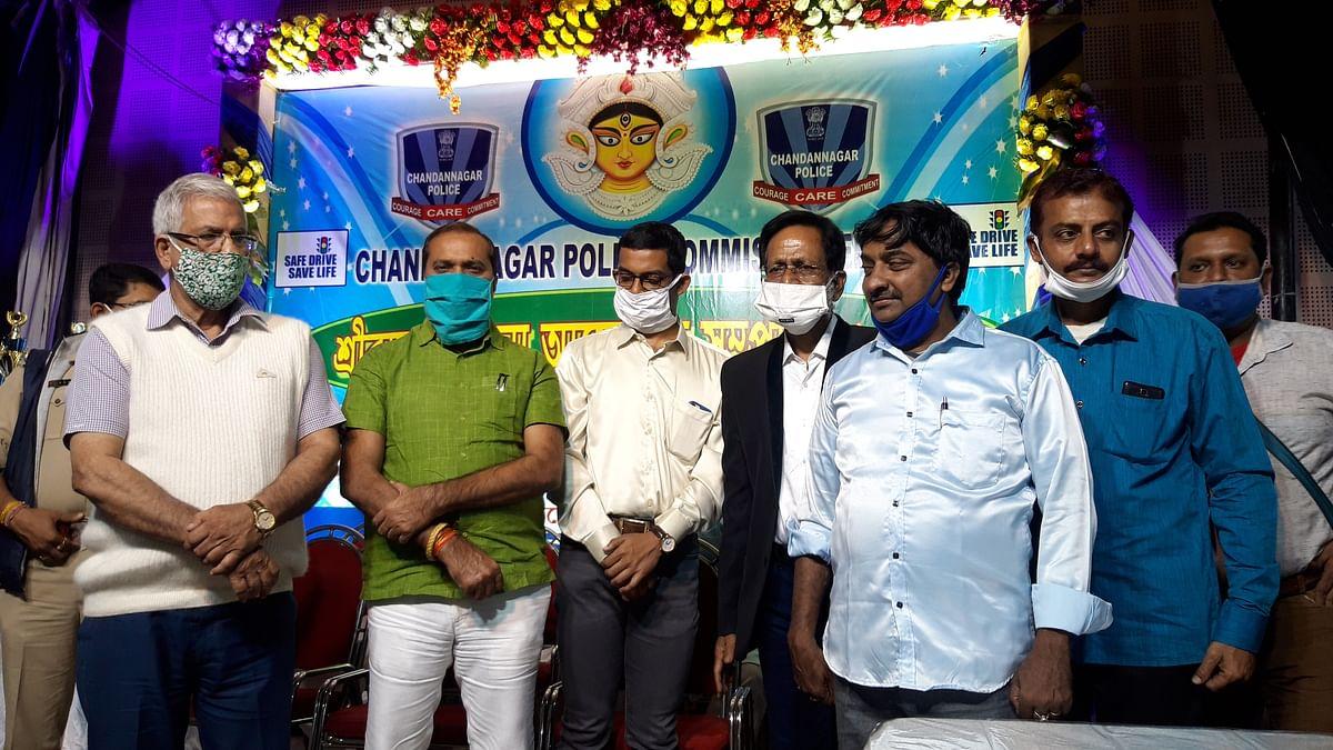 श्रीरामपुर थाने की ओर से शारदीय सम्मान समारोह सम्पन्न