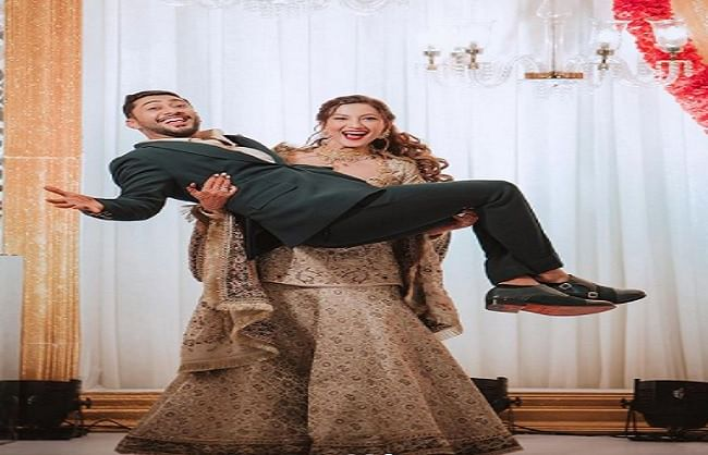 Gauhar Khan's fun-filled picture of husband Zaid in the lap went viral