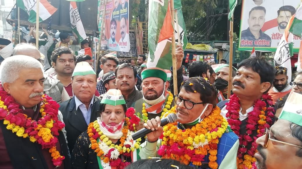 Congress launched Sandesh Yatra in support of farmer movement