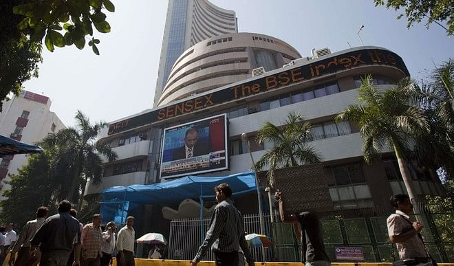 TCS shares gain three percent, Sensex closes above 49500