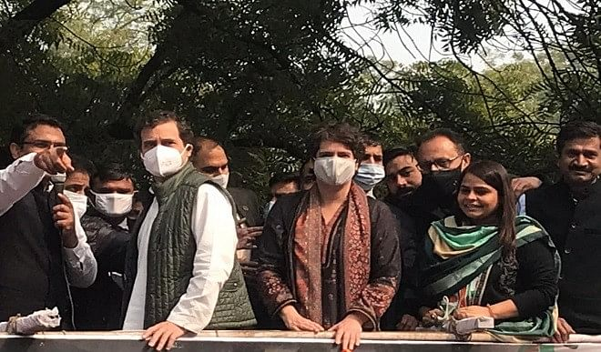 Congress march in support of farmers, Rahul Gandhi said - black laws will have to be withdrawn