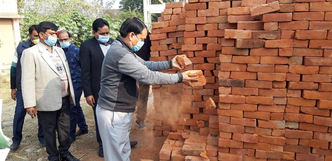 DM rages over use of poor bricks in construction of community health center