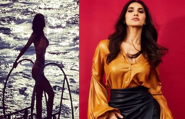 Vani Kapoor shares glamorous picture, is seen enjoying sunset in bikini avatar