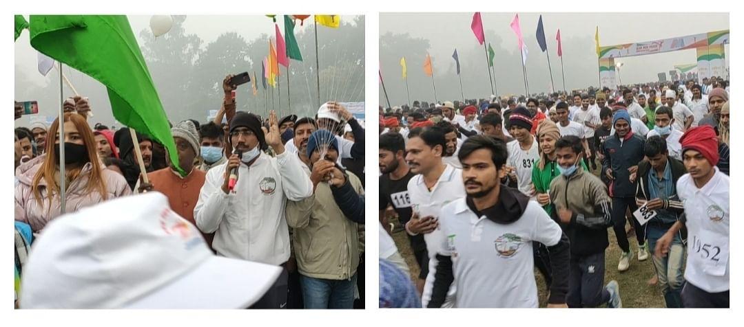 """मोतिहारी के गांधी मैदान में अहिंसा दौड़ """"रन फॉर पीस""""  कार्यक्रम का हुआ भव्य आयोजन"""