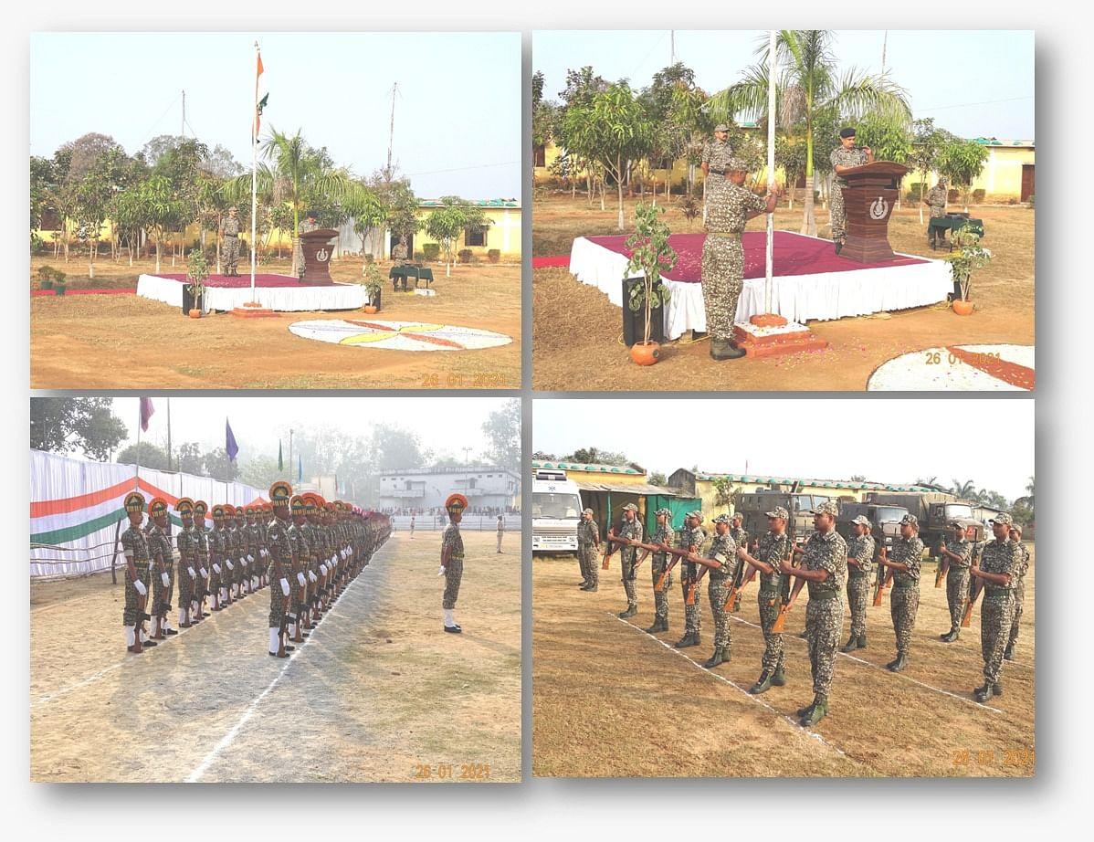 कोंडागांव : आईटीबीपी  29वीं वाहिनी ने हर्षोल्लास पूर्वक मनाया गणतंत्र दिवस