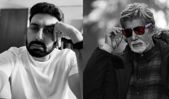 Big B praises Abhishek Bachchan's film Guru for 14 years