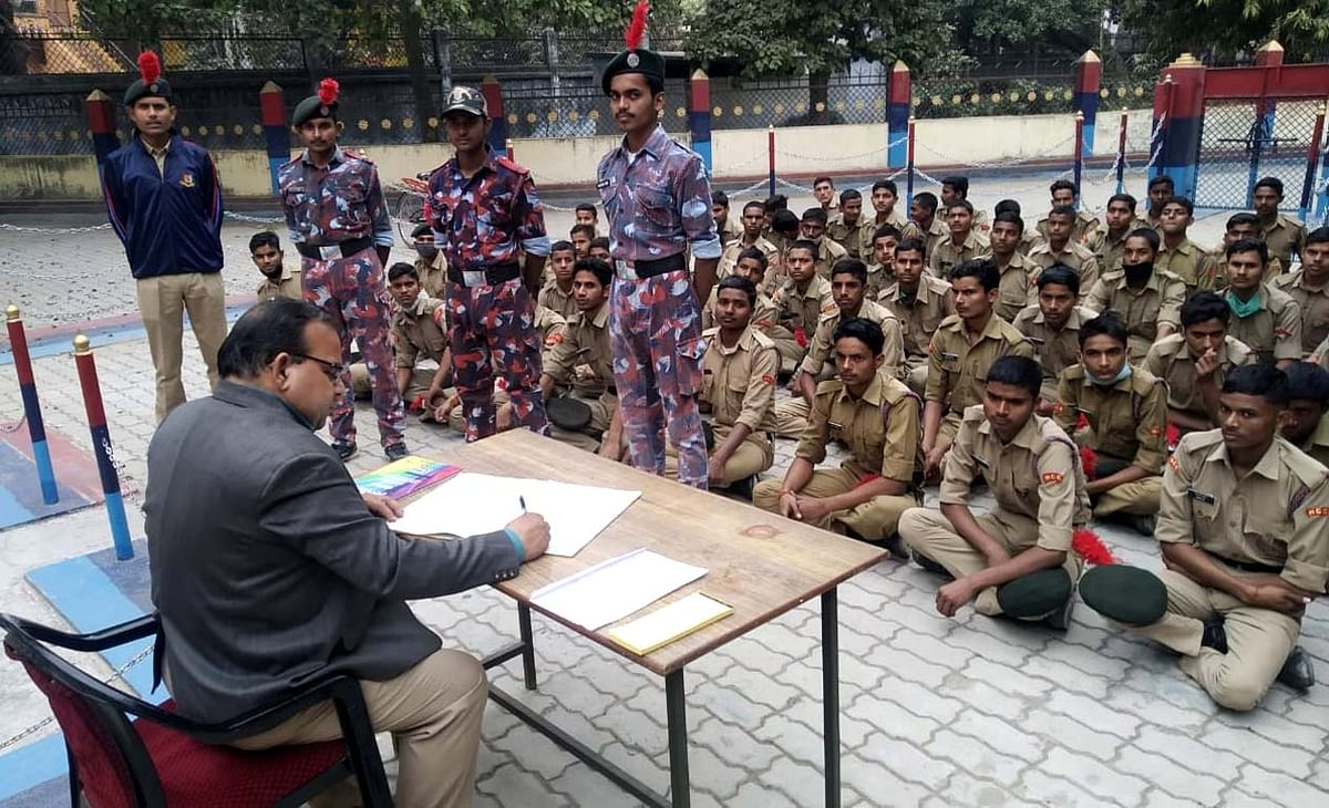 The lessons of unity and discipline being taught in NCC to the students of Chitrakoot district