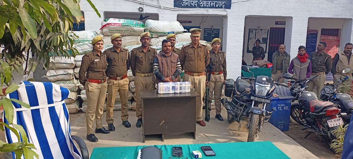 A smuggler arrested with 35 lakh hemp