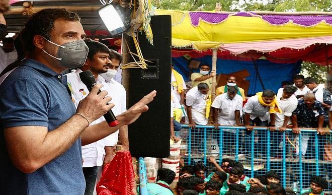 Rahul Gandhi, who participated in Jallikattu event, said- Tamil Nadu culture is necessary for future