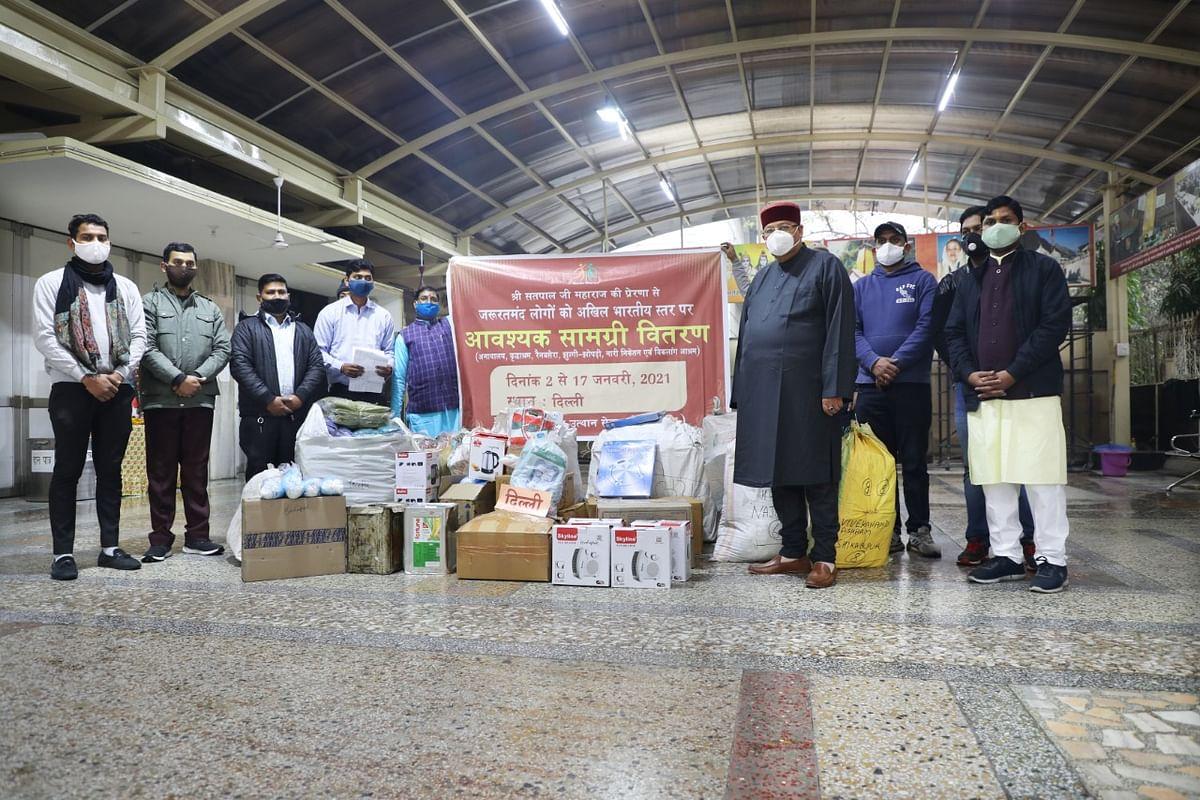 पं बंगाल : मानव उत्थान सेवा समिति ने16435जरूरतमंदों को दीआवश्यकसामग्री