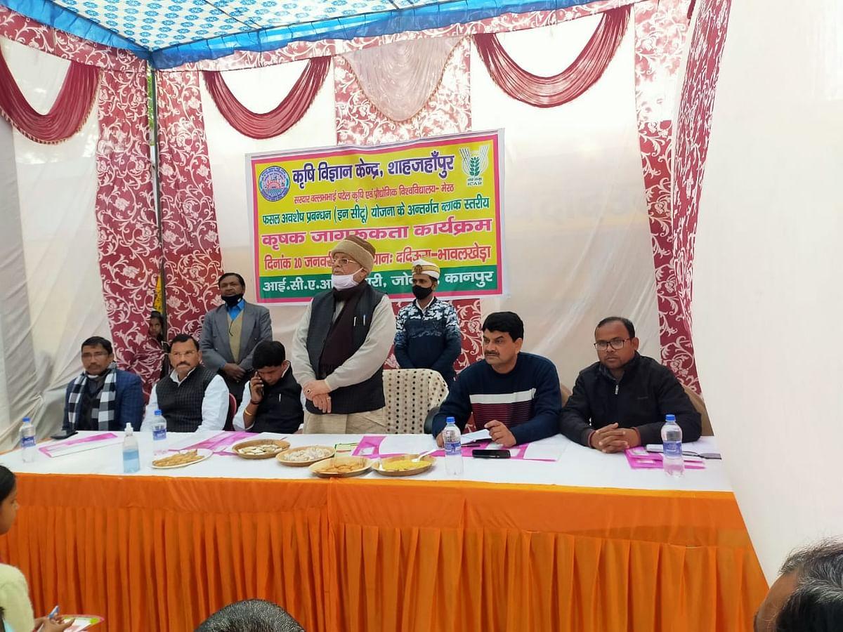 कैबिनेट मंत्री सुरेश खन्ना ने कृषि विधेयक को लेकर कृषकों से की चर्चा, आय बढ़ाने के बताए तरीके