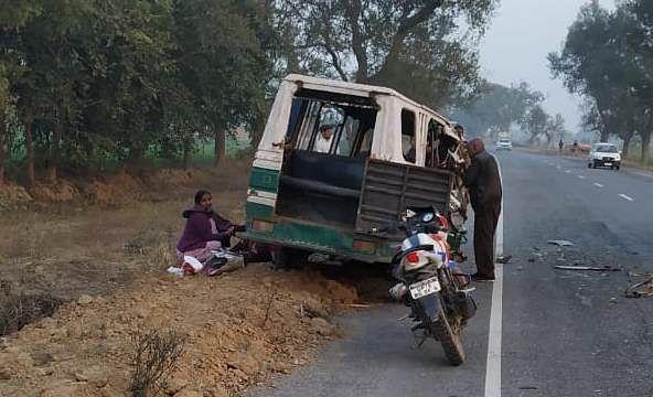 कानपुर में ट्रैक्टर व टेम्पो की भिड़ंत में सगे भाईयों समेत तीन की मौत, पांच घायल