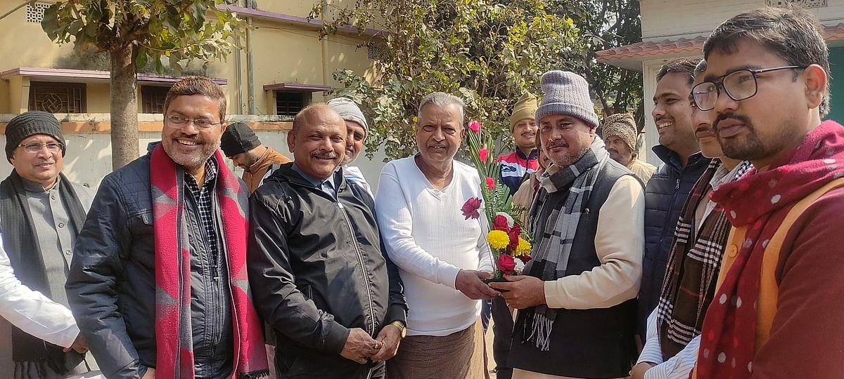 जदयू के नवनियुक्त जिलाध्यक्ष संजय सिंह ने राघवेन्द्र प्रताप सिंह से की मुलाकात