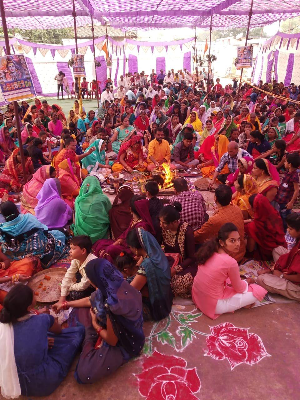 Dhamtari: Bhagwat Katha concludes in Muzgahan with Havan Pujan