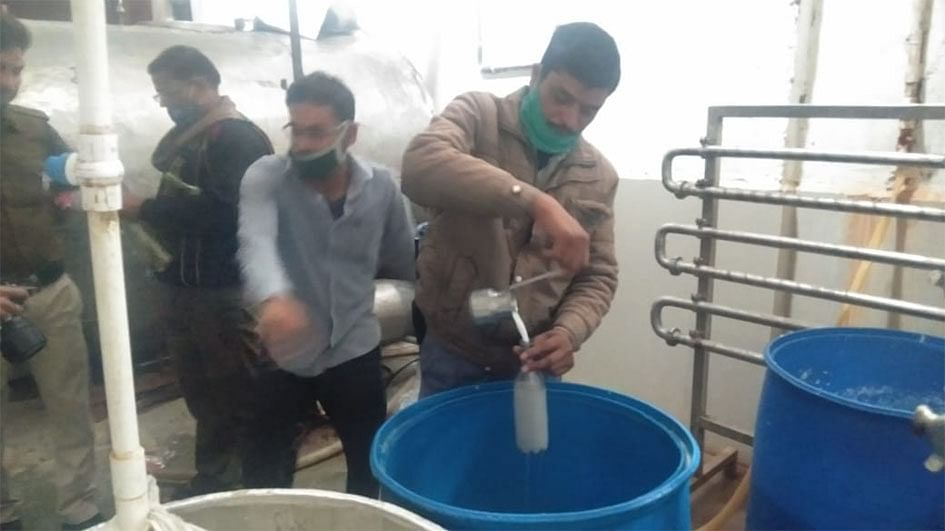 Administration raid on milk factory, locks installed in factory after disturbances