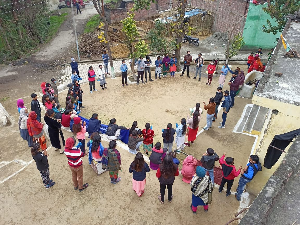 Various activities carried out in village adopted by NSS volunteers