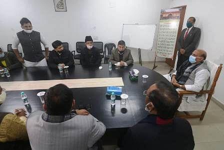 कल्बे सादिक के बेटों से मिले रक्षामंत्री राजनाथ सिंह, जताया दुख