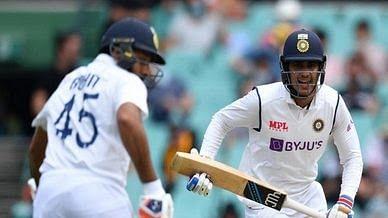सिडनी टेस्ट : भारत की सधी शुरुआत, शुभमन गिल ने लगाया अर्धशतक
