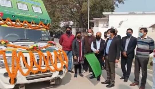 District Magistrate leaves voter awareness chariot