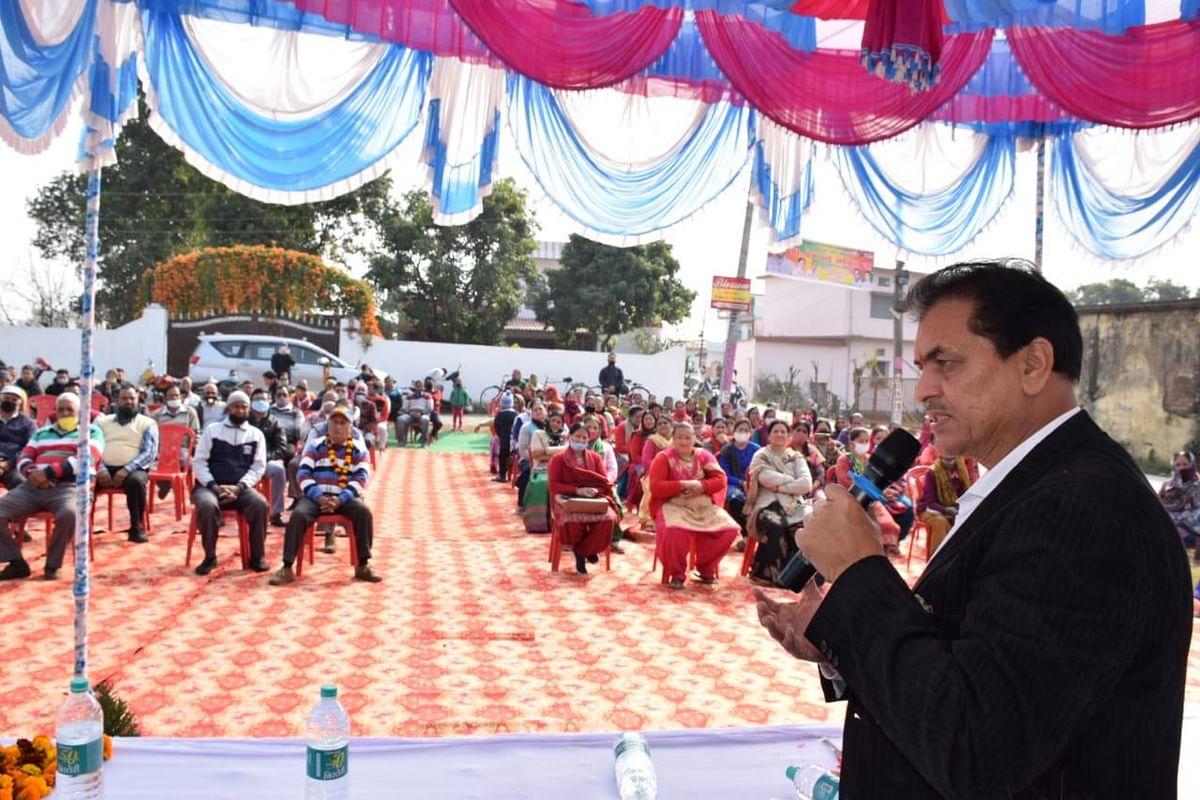 श्यामपुर के लिए सड़क स्वीकृत, विधानसभा अध्यक्ष का अभिनंदन