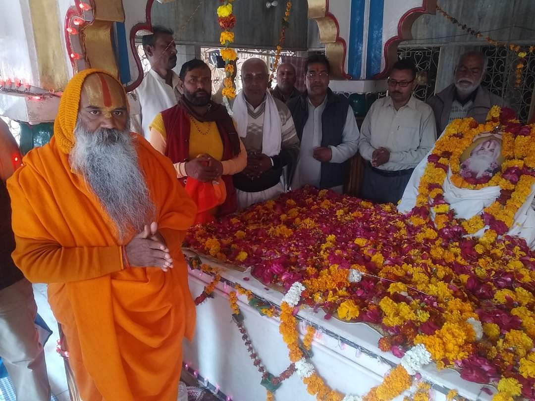 Procession taken out in Dharmanagri on the birth anniversary of Golokwasi Mahant Prem Pujari Das Maharaj