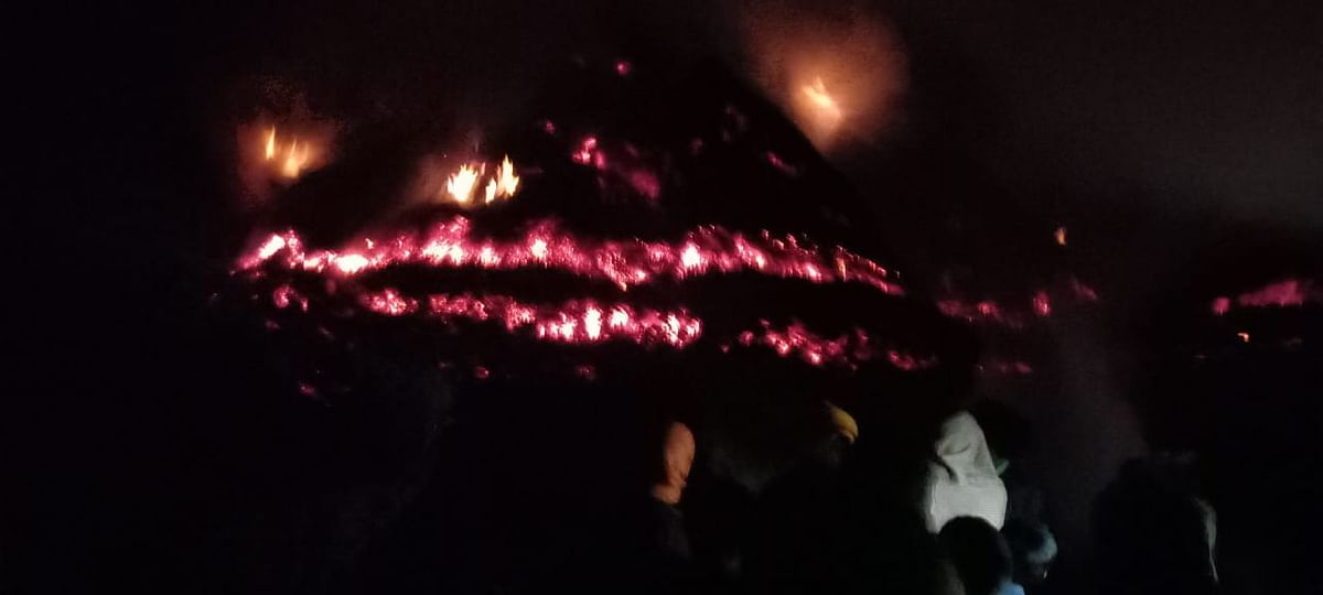 Fire in the barn of the former chief, burnt to ashes of rice worth 60 thousand