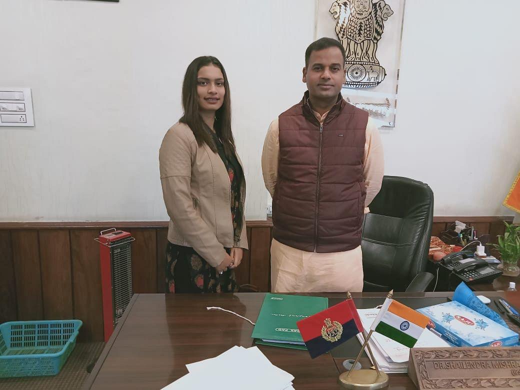 Social activist Meenakshi Gupta meets SSP Kathua Shailendra Mishra