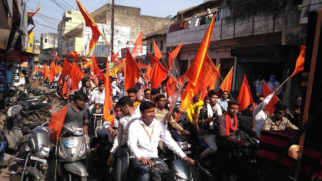श्रीराम हिंदू संगठन के स्थापना दिवस पर मोटरसाइकिल रैली का आयोजन, गूंजा श्रीराम का जयघोष