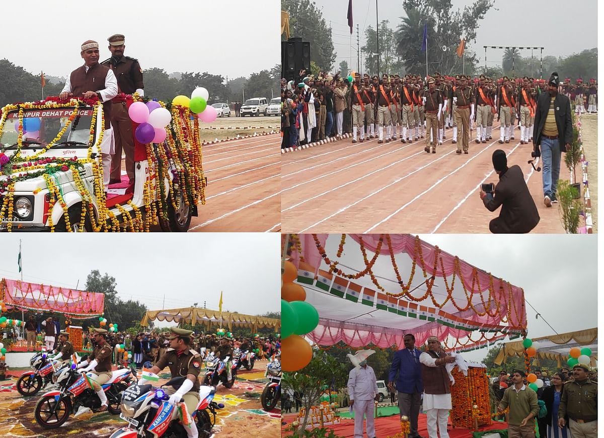 कानपुर देहात में धूमधाम से मना 72 वां गणतंत्र दिवस