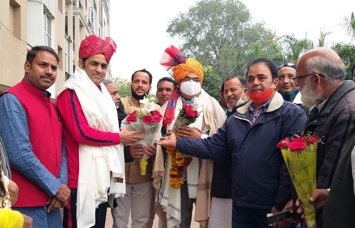 Amin Pathan and Bhajan Lal Sharma thanked newly appointed officials of Minority Front
