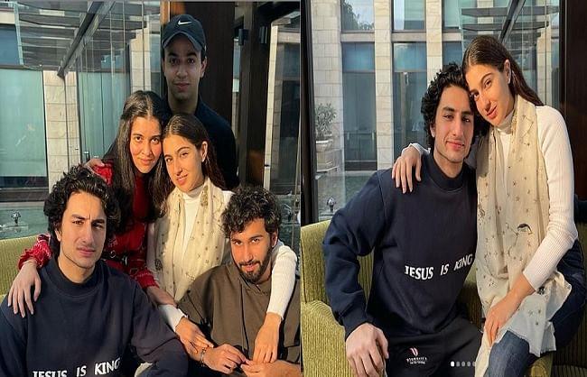 सारा अली खान ने भाई इब्राहिम और दोस्तों संग की जमकर मस्ती