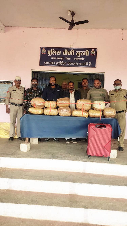 राजनांदगांव : 65 किलो गांजा के साथ तीन तस्कर  गिरफ्तार