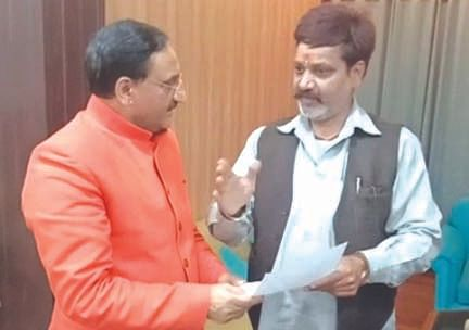 Business leader submitted memorandum to Union Minister Nishank