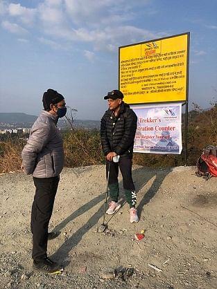 पर्यटन सचिव ने राजपुर रोड-झड़ीपानी मसूरी ट्रैकिंग ट्रैक का किया निरीक्षण