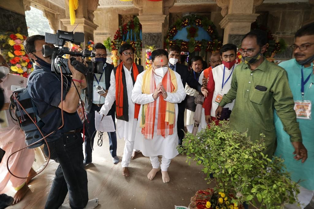 Nadda launches 'One Fist Rice' campaign in Pt Bengal