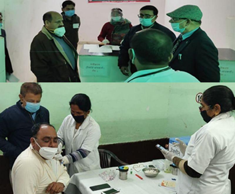 कोविड-19 के वैक्सीनेशन में सीएचसी के अधीक्षक समेत 224 लोगों ने लगवाये टीके