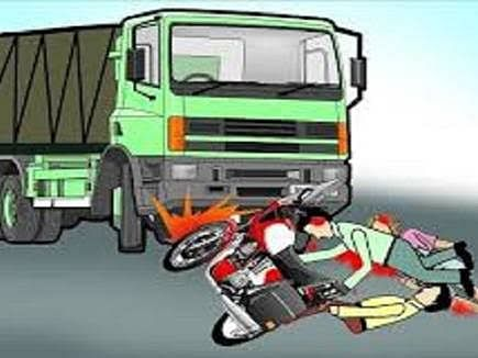 Accident: A high-speed truck hit a young man, killing him on the spot