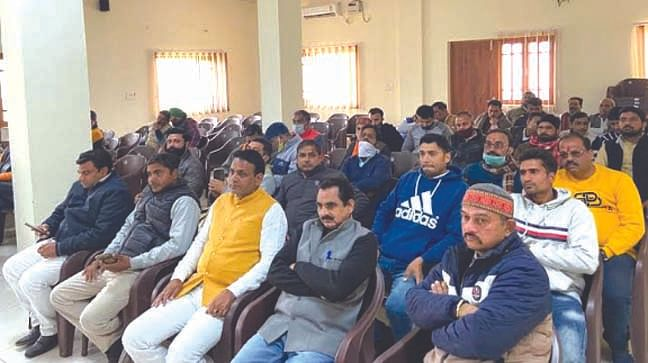 भाजपा किसान मोर्चा के नवनियुक्त पदाधिकारियों का स्वागत