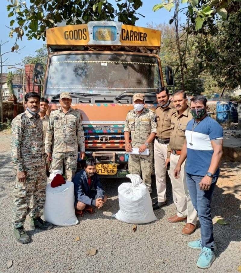 जगदलपुर : 38 किलो गांजा सहित 01 गांजा तस्कर गिरफ्तार
