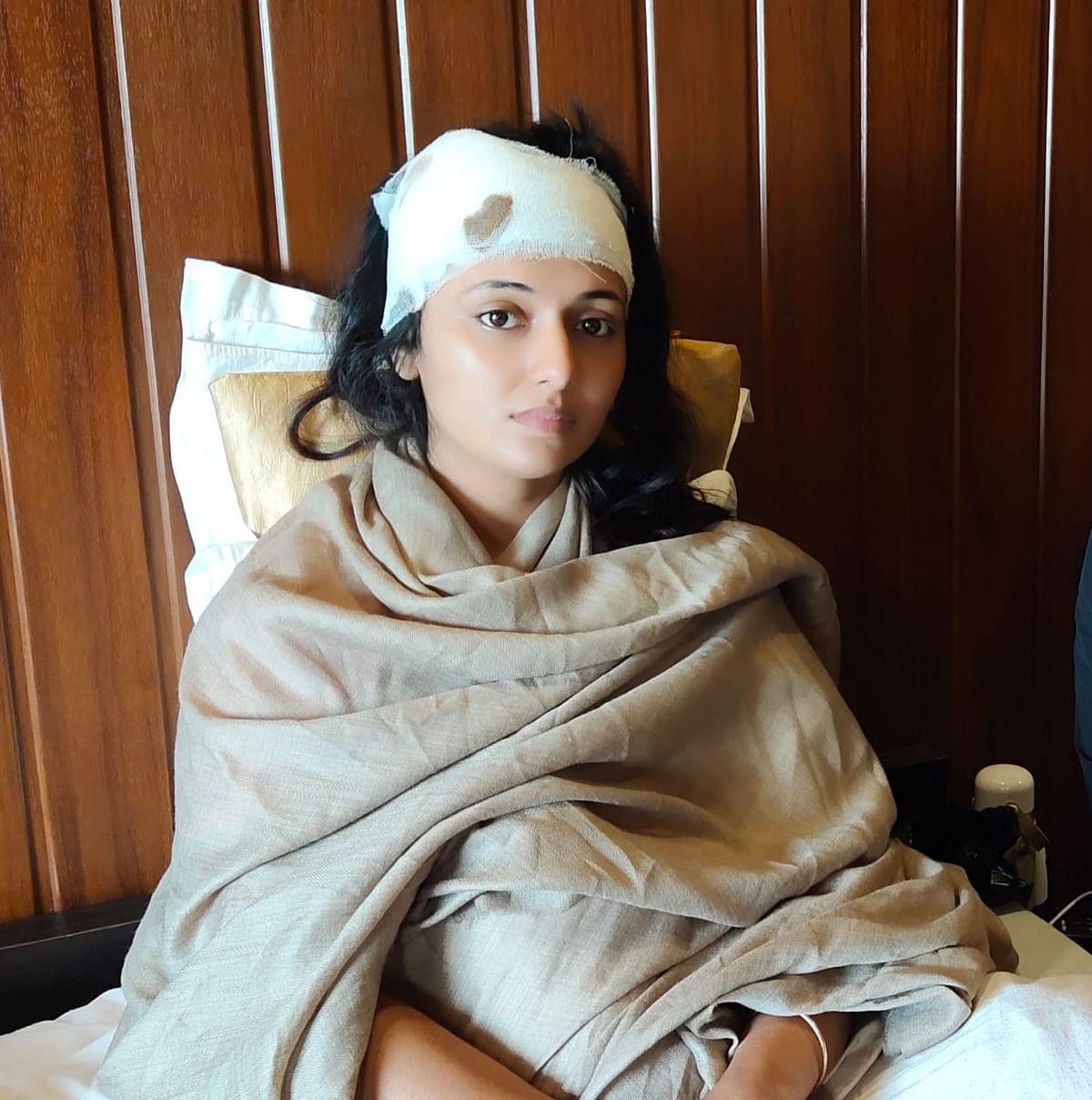 जौनपुर : फिल्म की शूटिंग के दौरान आरजकतत्वों ने किया पथराव, भोजपुरी अभिनेत्री मणि भट्टाचार्य घायल
