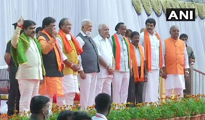 Yeddyurappa cabinet expanded, BJP leaders accused of making appointments through blackmail