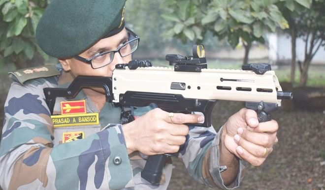 ASMI, India's first indigenous machine pistol, will fly sixes of enemies