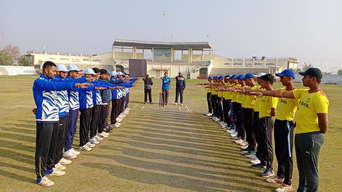 तीन क्रिकेट मैत्री मैच में स्टेट अकादमी ने जबलपुर इलेवन को हराया