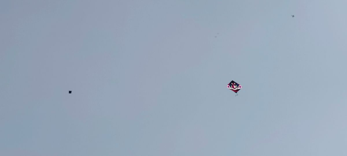 Worshiped in all the temples on Makar Sakranti, the acrobatics of kites seen in Gagan