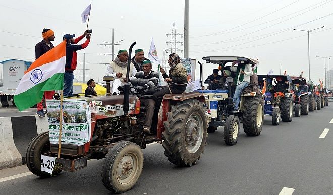 Kisan agitation: farmers demonstrated power with tractor in Jind, Satbir wrestler said this