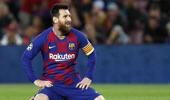 खिलाड़ी से हाथापाई करने के लिये दो मैच से निलंबित हुए मेस्सी, बार्सिलोना ने हासिल की चौथी जीत