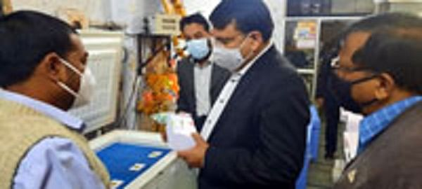 Corona vaccine reached Neemuch district, Collector inspected Coldchain storage